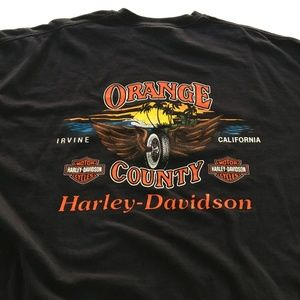 Harley Davidson Orange County Tee Graphic T Shirt